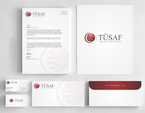 Türkiye Sigorta Acenteleri Federasyonu Business Cards and Stationery  Draft # 221 by Dawson