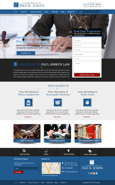 The Law Office of Paul K. Joseph Complete Web Design Solution  Draft # 120 by makeglow