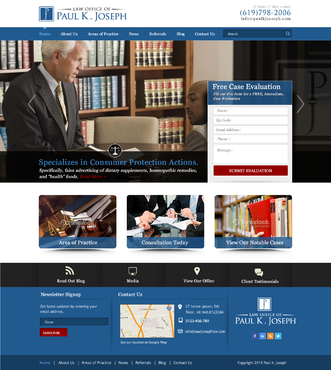 The Law Office of Paul K. Joseph Complete Web Design Solution  Draft # 124 by makeglow