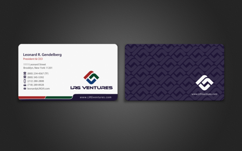 LRG Ventures, Inc. Business Cards and Stationery Winning Design by einsanimation
