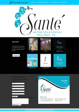 Sante` Aesthetics & Medical Wellness, Inc. Complete Web Design Solution  Draft # 51 by mamawaja