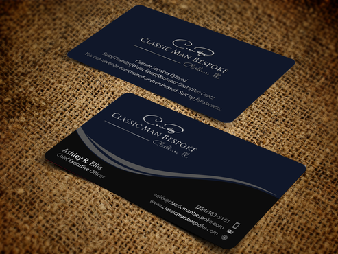 What is a Classic Man?  A man that that timeless style and uncompromising taste. Business Cards and Stationery Winning Design by einsanimation