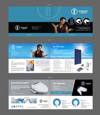 Design brochure for products including - Solar Panels, Solar inverter, Electronic Bidet, LED Bulb Marketing collateral  Draft # 33 by gugunte