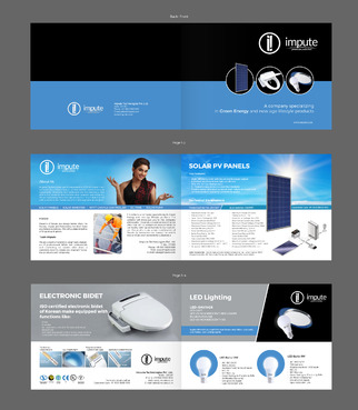 Design brochure for products including - Solar Panels, Solar inverter, Electronic Bidet, LED Bulb Marketing collateral  Draft # 34 by gugunte