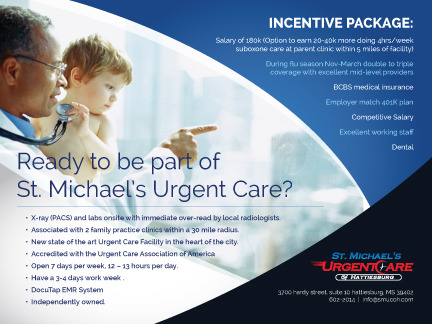 St. Michael's Urgentcare  Marketing collateral  Draft # 18 by evedesigns