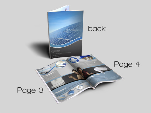 Design brochure for products including - Solar Panels, Solar inverter, Electronic Bidet, LED Bulb Marketing collateral  Draft # 69 by aminzah
