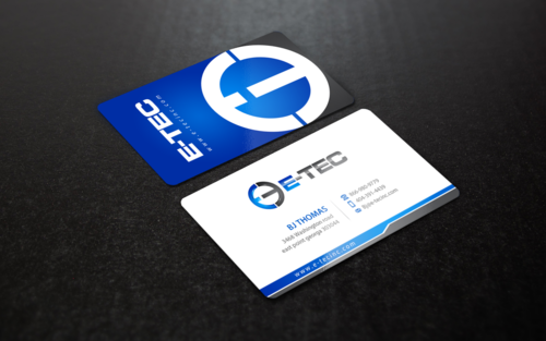 E-TEC Stationery Business Cards and Stationery  Draft # 99 by einsanimation