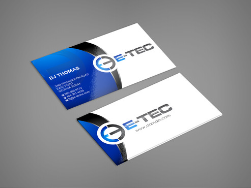 E-TEC Stationery Business Cards and Stationery  Draft # 242 by sevensky
