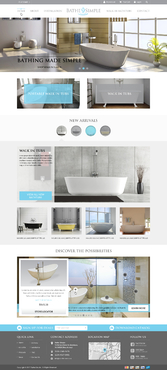 Bathing made Simple Complete Web Design Solution  Draft # 88 by FuturisticDesign