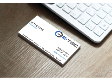 E-TEC Stationery Business Cards and Stationery  Draft # 260 by Shimechero