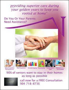 senior citizen home health care Marketing collateral  Draft # 21 by FEGHDD