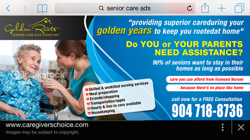 senior citizen home health care Marketing collateral  Draft # 25 by creativeoutline