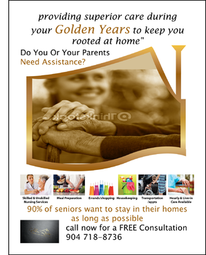 senior citizen home health care Marketing collateral  Draft # 65 by FEGHDD