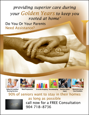 senior citizen home health care Marketing collateral  Draft # 69 by FEGHDD