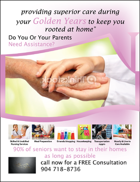 senior citizen home health care Marketing collateral  Draft # 71 by FEGHDD