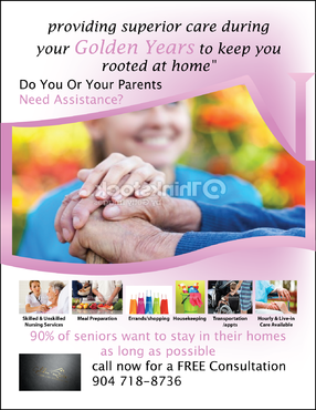 senior citizen home health care Marketing collateral  Draft # 73 by FEGHDD