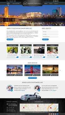Platinum Limousine LLC Complete Web Design Solution Winning Design by FuturisticDesign