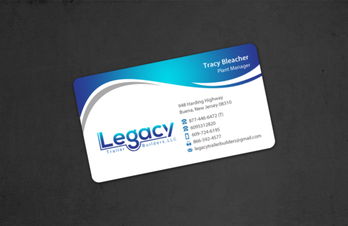 Legacy Trailer Builders, LLC Business Cards and Stationery Winning Design by einsanimation