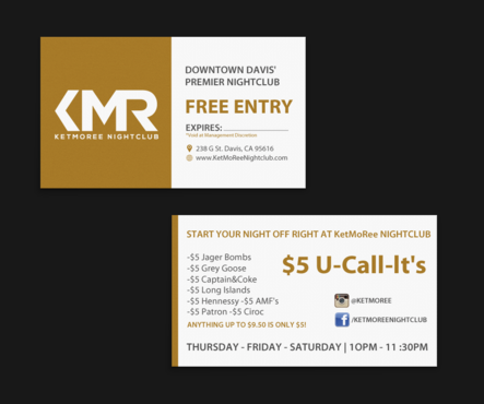 KetMoRee Nightclub Business Cards and Stationery Winning Design by einsanimation