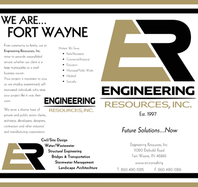 Engineering Resources - Fort Wayne, IN Marketing collateral  Draft # 9 by DannyDezine