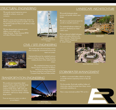 Engineering Resources - Fort Wayne, IN Marketing collateral  Draft # 28 by DannyDezine
