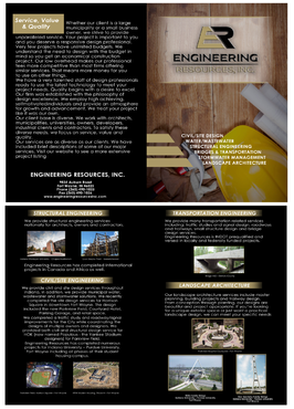 Engineering Resources - Fort Wayne, IN Marketing collateral  Draft # 46 by syedraza-541