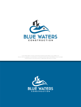 Blue Waters Construction A Logo, Monogram, or Icon  Draft # 12 by graphika