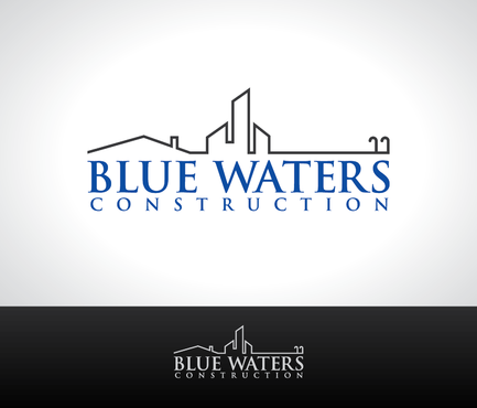 Blue Waters Construction A Logo, Monogram, or Icon  Draft # 35 by nesgraphix