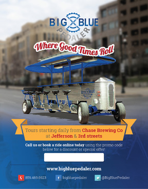 Big Blue Pedaler Marketing collateral  Draft # 19 by vectogravic