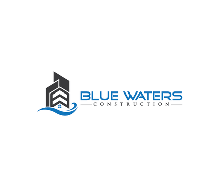 Blue Waters Construction A Logo, Monogram, or Icon  Draft # 110 by nesgraphix