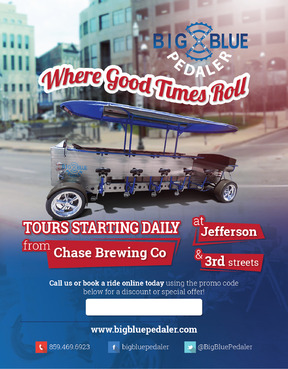 Big Blue Pedaler Marketing collateral  Draft # 43 by vectogravic