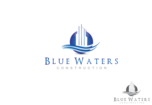 Blue Waters Construction A Logo, Monogram, or Icon  Draft # 172 by PTGroup