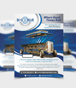 Big Blue Pedaler Marketing collateral  Draft # 48 by Achiver