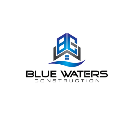 Blue Waters Construction A Logo, Monogram, or Icon  Draft # 232 by nesgraphix