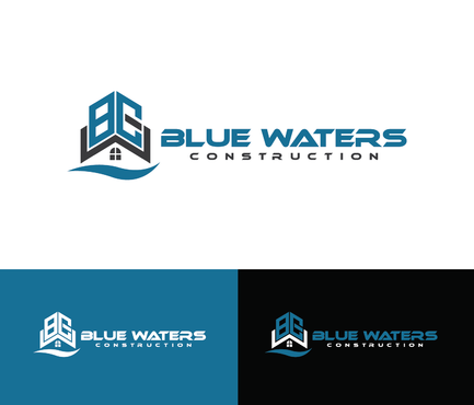 Blue Waters Construction A Logo, Monogram, or Icon  Draft # 244 by nesgraphix