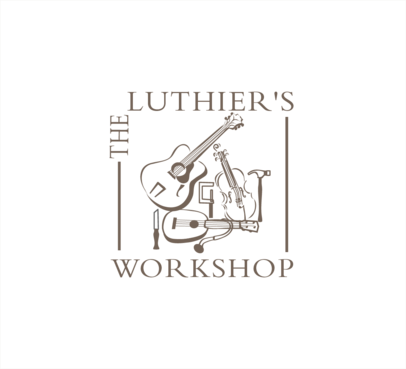 THE LUTHIER'S WORKSHOP A Logo, Monogram, or Icon  Draft # 27 by attidesigns