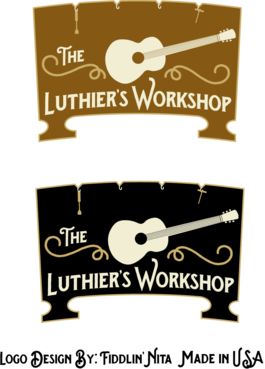THE LUTHIER'S WORKSHOP A Logo, Monogram, or Icon  Draft # 41 by FiddlinNita