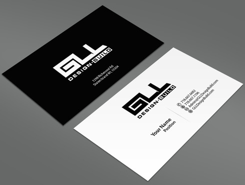 GLL Design-Build, Construction Management  Business Cards and Stationery  Draft # 2 by ArtworksKingdom
