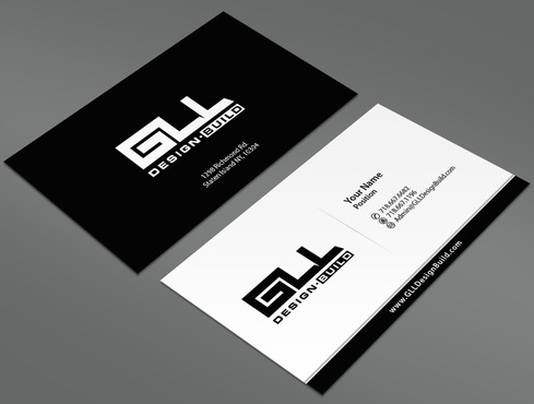 GLL Design-Build, Construction Management  Business Cards and Stationery  Draft # 5 by ArtworksKingdom