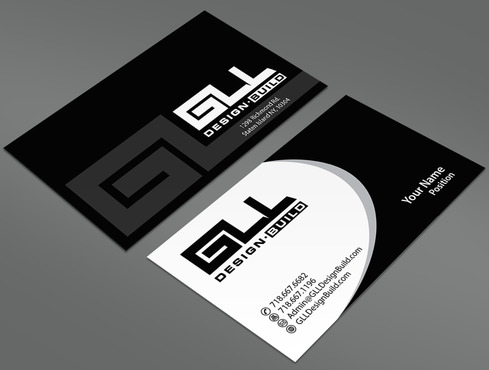 GLL Design-Build, Construction Management  Business Cards and Stationery  Draft # 25 by ArtworksKingdom