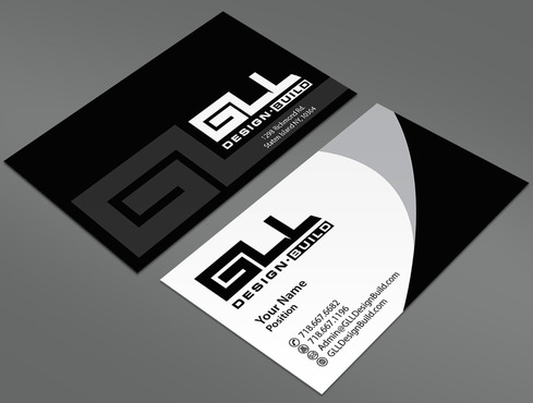 GLL Design-Build, Construction Management  Business Cards and Stationery  Draft # 27 by ArtworksKingdom