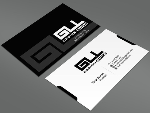 GLL Design-Build, Construction Management  Business Cards and Stationery  Draft # 28 by ArtworksKingdom