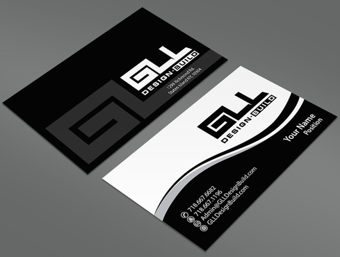 GLL Design-Build, Construction Management  Business Cards and Stationery  Draft # 39 by ArtworksKingdom
