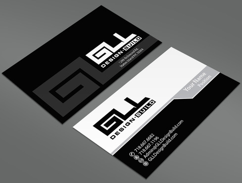 GLL Design-Build, Construction Management  Business Cards and Stationery  Draft # 40 by ArtworksKingdom
