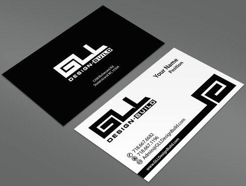 GLL Design-Build, Construction Management  Business Cards and Stationery  Draft # 83 by ArtworksKingdom