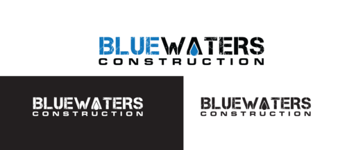 Blue Waters Construction A Logo, Monogram, or Icon  Draft # 360 by anijams