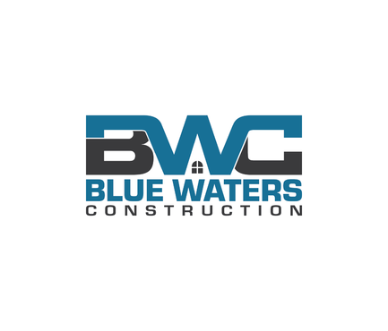 Blue Waters Construction A Logo, Monogram, or Icon  Draft # 365 by nesgraphix