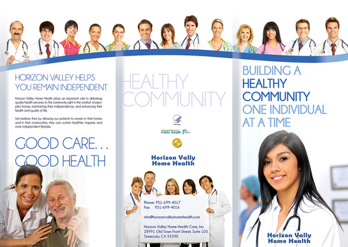 Horizon Valley Home Health Care Marketing collateral  Draft # 1 by moonbeam82