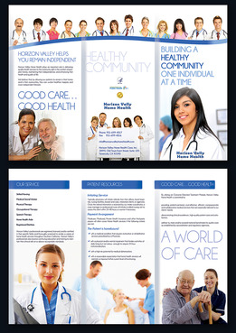 Horizon Valley Home Health Care Marketing collateral  Draft # 16 by moonbeam82