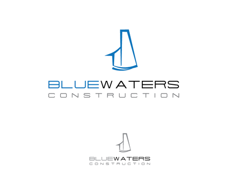 Blue Waters Construction A Logo, Monogram, or Icon  Draft # 531 by AmeenI